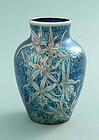 Loetz Art Nouveau Silver Overlay Vase
