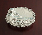 Silver Art Nouveau Maiden Snuff Box