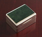 Antique Agate and Silver Table Snuff-Tobacco Box