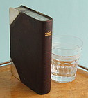 Fine Leather Bound Book Flask
