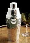 Hammered Art Deco Cocktail Shaker