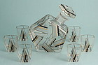 Art Deco Enamel Decanter Set