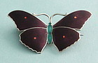 John Atkins Enamel and Silver Butterfly