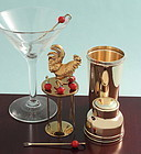 Gilded Cocktail Shaker Form Pick Stand