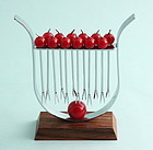 Art Deco Bakelite Cherries Cocktail Picks Stand