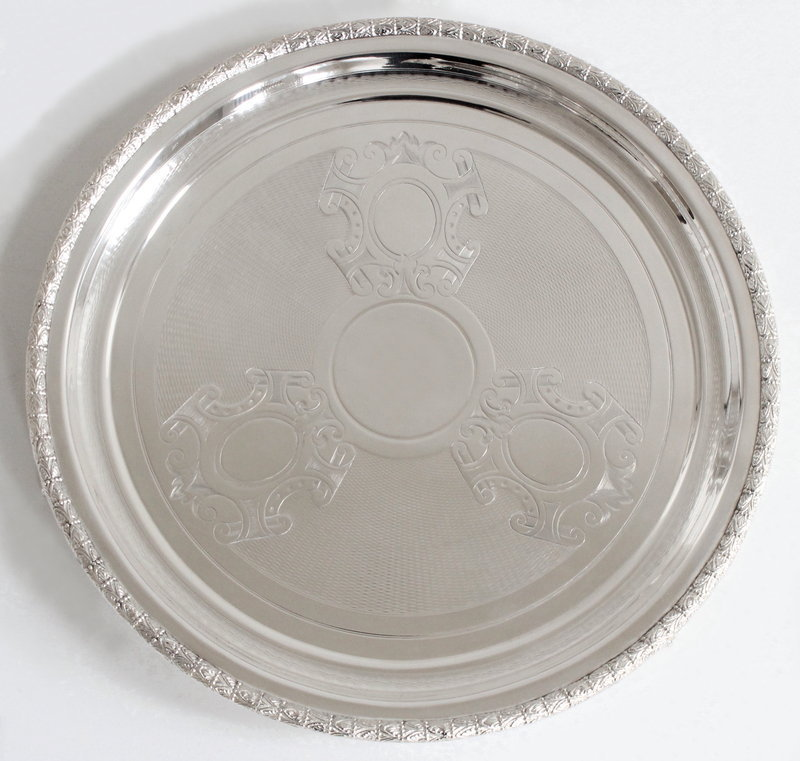 English Chased Footed Tray