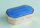 Edwardian Silver and Enamel Snuff Box