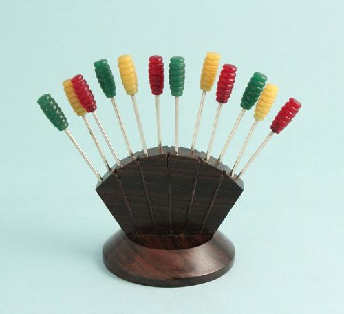 Art Deco Bakelite Cocktail Picks Stand