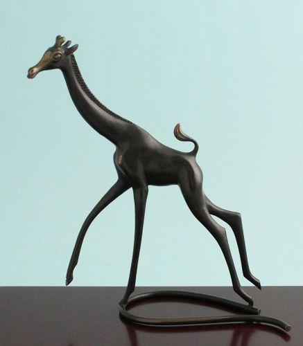Rena Rosenthal Modernist Bronze Giraffe