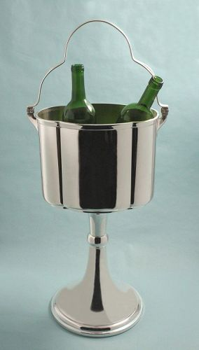 WMF Two Bottle Modernist Wine Champagne Stand
