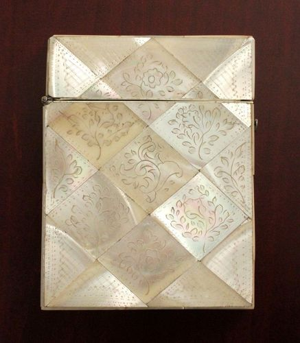 Antique Mother-of-Pearl Card Case