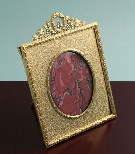 Antique Gilded Bronze Photo Frame