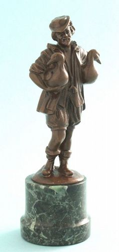 "Antique Bronze, ""The Gooseman's Fountain"""