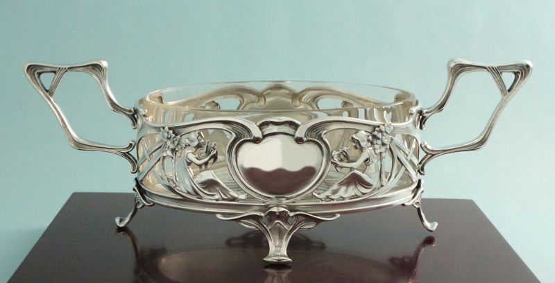 Silver Art Nouveau Jardiniere