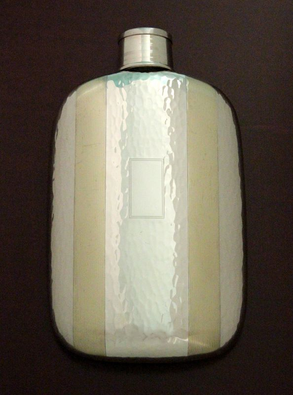 Napier Silver and 14K Gold Flask