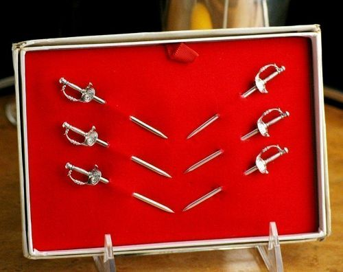 Tiffany Cocktail Pick Swords