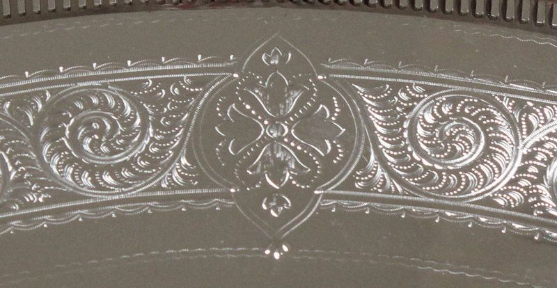 Large Antique English Gallery Tray