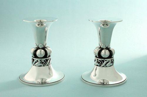 Alphonse La Paglia Silver Candlesticks