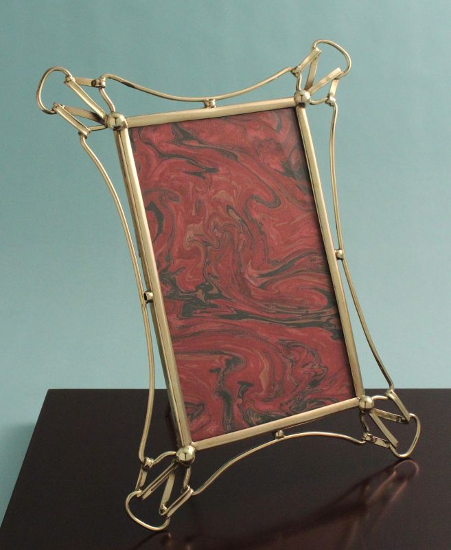 Art Nouveau Brass Photo Frame