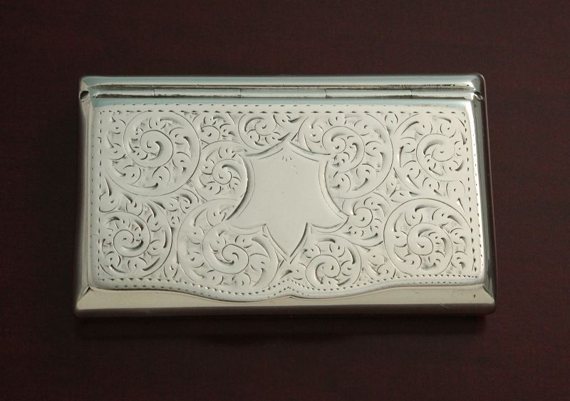 Antique English Silver Snuff Box