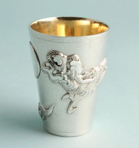 Silver Dragon Shot Glass