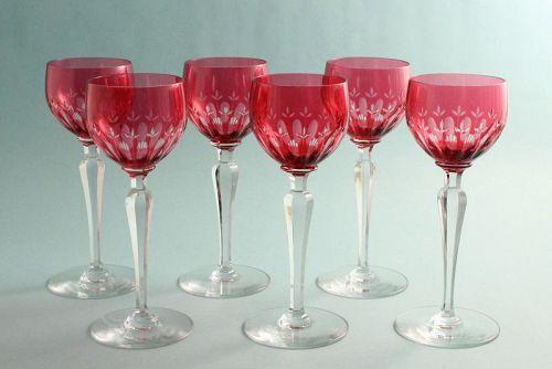 Val St. Lambert Wine Goblets