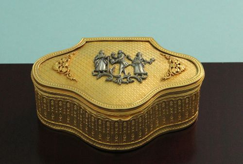 Antique Gilt Bronze Jewel Box