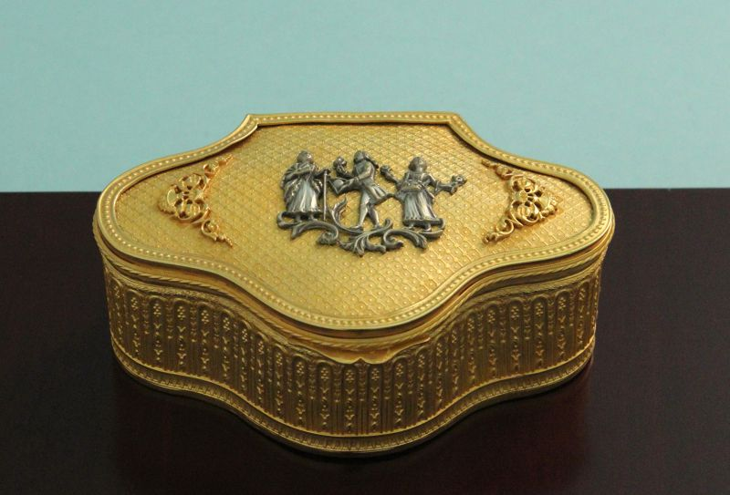 Antique Gilt Bronze Jewel Box