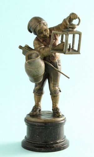 Bronze Boy Lighting Lantern