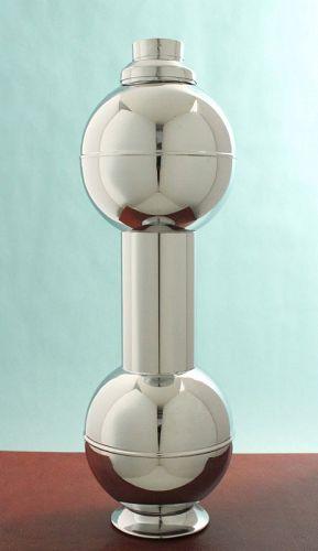 Figural Dumbbell Cocktail Shaker