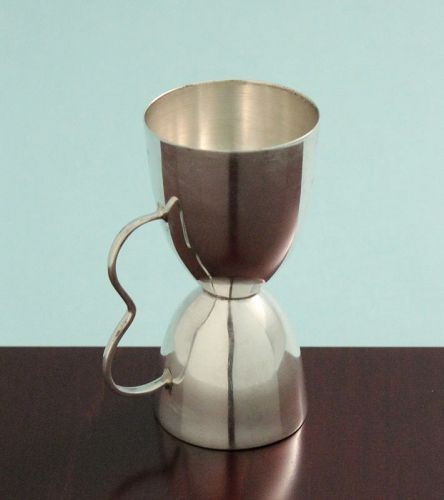 Modernist Silver Double Jigger