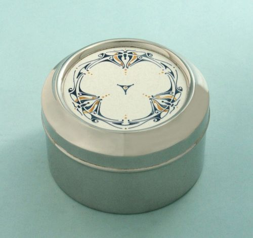 Art Nouveau Pottery Top Box