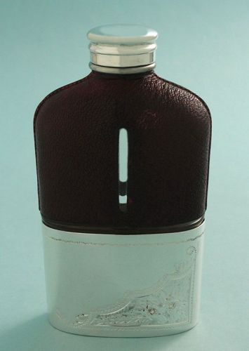 Antique Leather Covered Flask