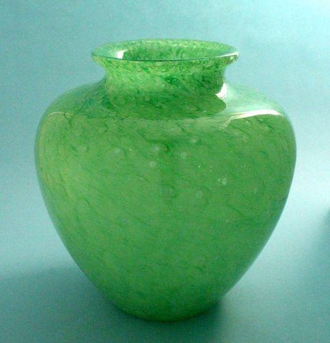 Steuben Green Cluthra Vase