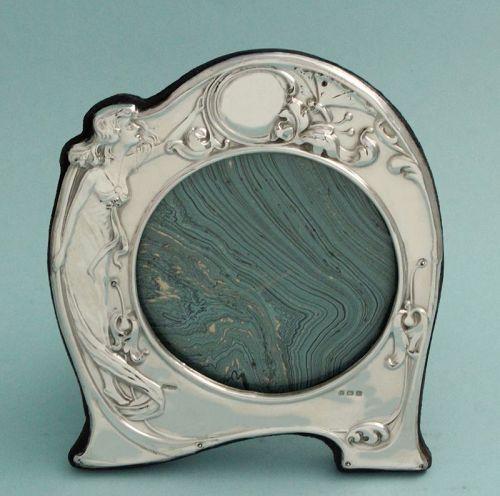 English Silver Art Nouveau Frame