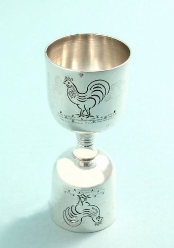 Silver Roosters Double Jigger