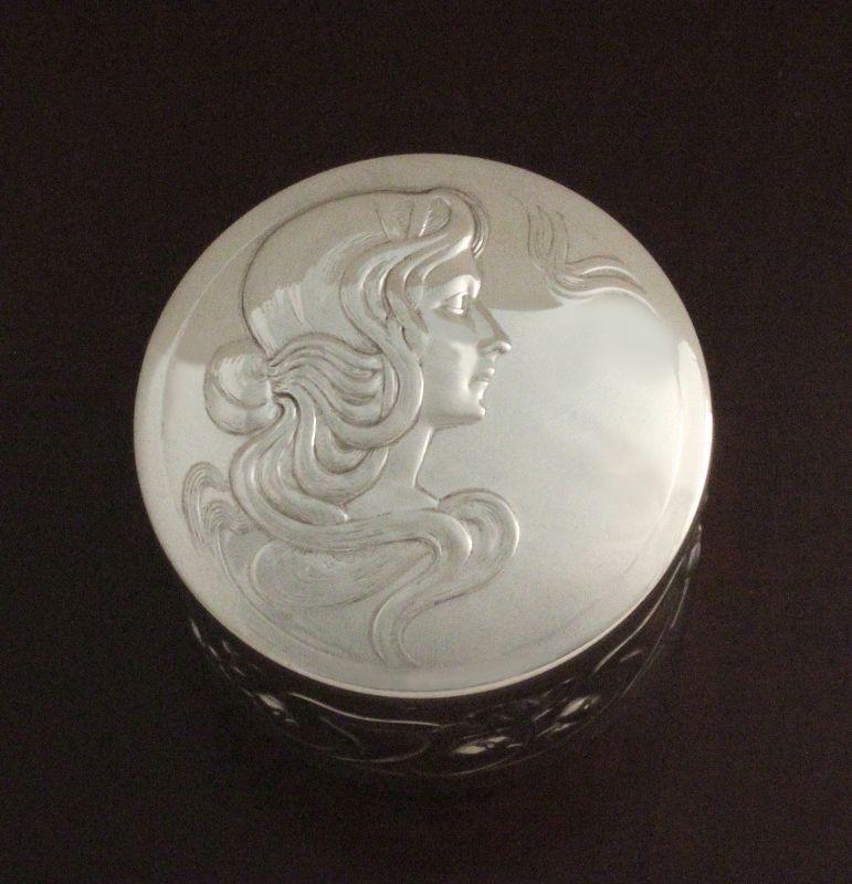 WMF Art Nouveau Maiden Box