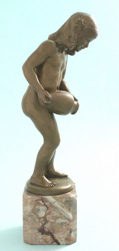 Rudolph Kaesbach Bronze, Girl with Jug