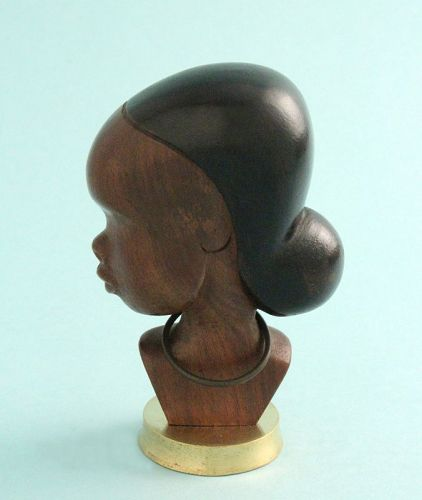 Hagenauer Carved Wood African Bust