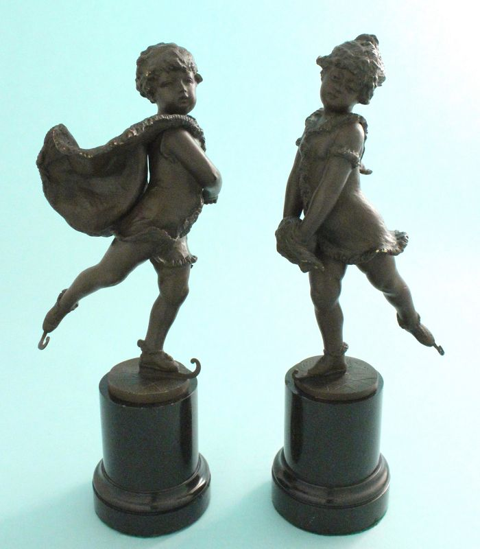 Franz Iffland Bronzes, Youthful Ice Skaters