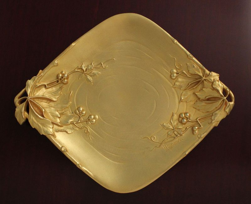 Art Nouveau Gilded Bronze Tray