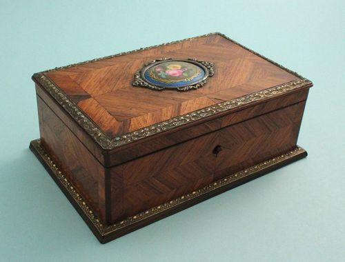 French Kingwood and Bronze Mounted Jewel Box