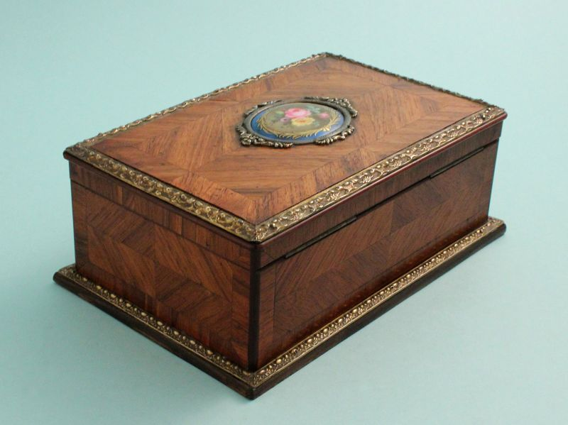 French Kingwood and Bronze Mounted Jewel Box
