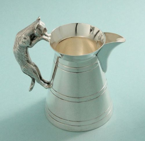 Victorian Cat Handle Milk Jug Pitcher