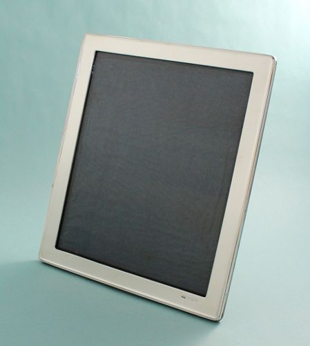 Large Antique English Silver Photo Frame