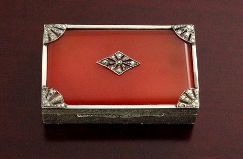 Art Deco Silver and Marcasite Box