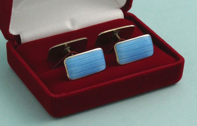Silver Gilt and Enamel Cufflinks