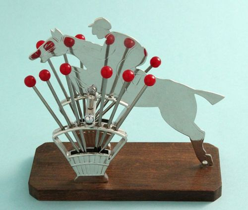 Equestrian Cocktail Picks Stand
