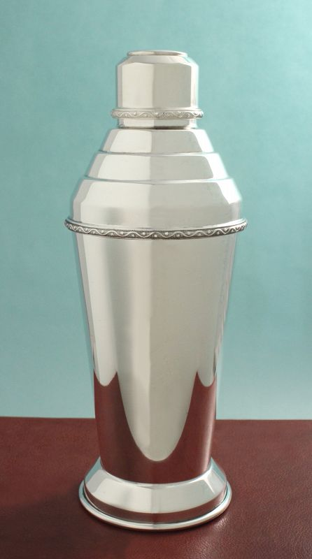 English Art Deco Cocktail Shaker