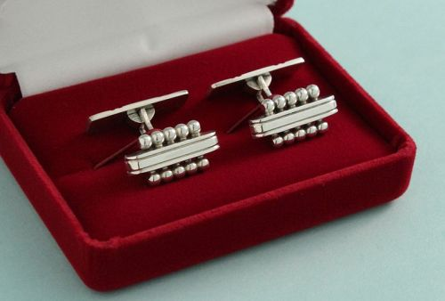 Danish Modernist Silver Cufflinks
